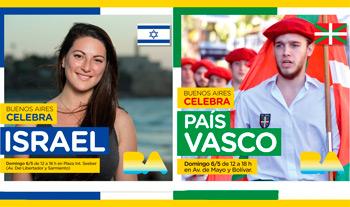 BA Celebra a Israel y al País Vasco el domingo 6 de mayo 2018
